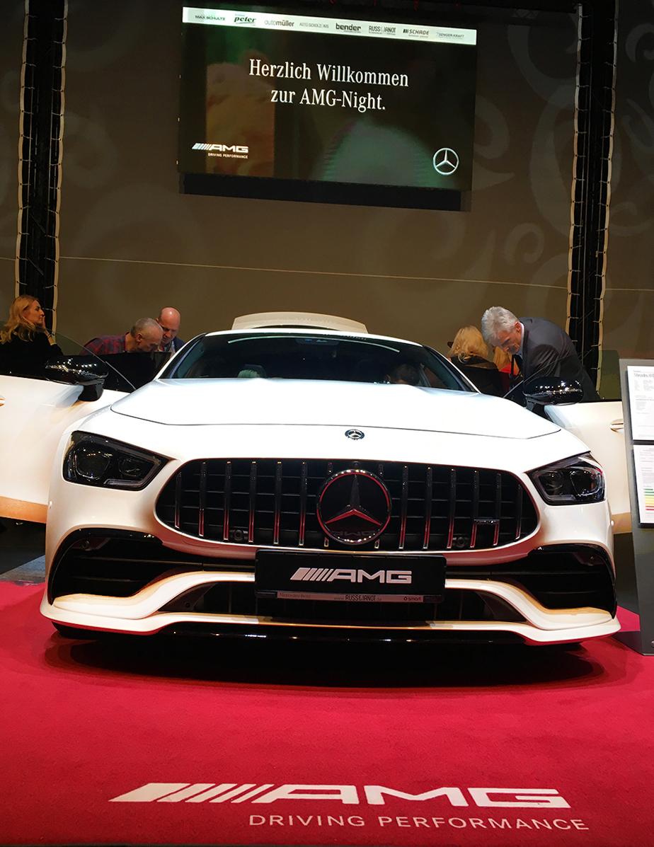 Mercedes AMG Präsentation auf Prolyte Bühne